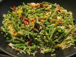 cuisiner poivrons verts riz cuit haricots verts petits pois poivrons tm 31 ww moi