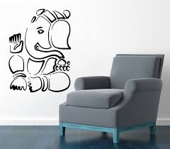 wall decals yoga indian ganesha vinyl sticker elephant art mural wall decals yoga indian ganesha vinyl sticker elephant art mural home decor kg39
