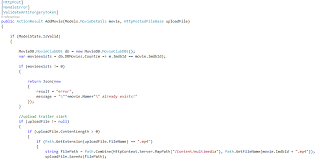 c post a serialized asp net model and a file with single jquery