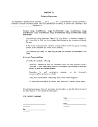 Booth Rental Agreement 8 Download 5 Restaurant Business Insurance Agreement Reservations Order