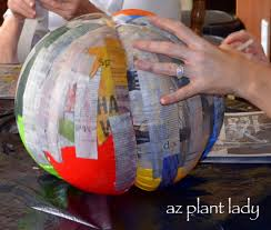 Paper Mache Halloween Crafts by Create Your Own Pumpkins Using Paper Mache Birdsandbloomsblog Com