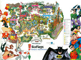 6 Flags Map 2000 Attractions At Six Flags Magic Mountain The Coaster Guy