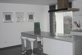 cuisine blanche et grise beau cuisine blanche plan de travail gris et cuisine indogate