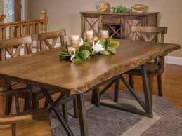 Rustic Dining Room Table Decor Rustic And Live Edge Dining Furniture With Room Table Decor 4