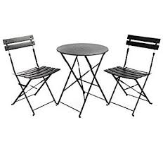 3 piece table and chair set bistro table and chair set new amazon com finnhomy slatted 3 piece
