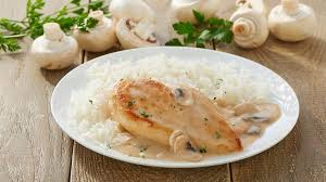 cuisine filet de poulet filet de poulet aux chignons et à la crème recette facile et