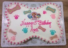 dog bone shaped paw patrol cake u2014 trefzger u0027s bakery