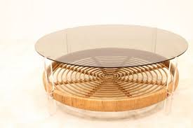 Ghost Coffee Table - round u0027ghost u0027 coffee table rattan base seventiesdesign