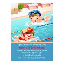 22 best pool birthday party invitations images on pinterest