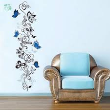 online buy wholesale hotel room decor from china hotel room decor removable 50x70cm flower vine butterflies wall stickers living room decor hotel room decoration wall stickers