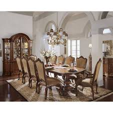 universal furniture villa cortina 9 piece double pedestal dining