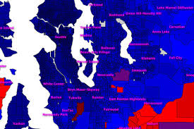 Bellevue Seattle Map by Did Your Seattle Neighborhood Vote For Donald Trump Or Hillary