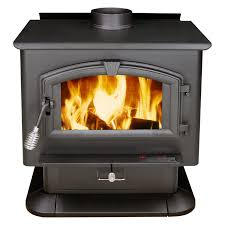 pleasant hearth large wood burning stove with blower black