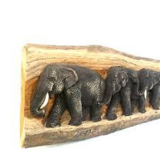Elephant Home Decor Elephant Figurine Hand Ebony Wood From Icmcm On Etsy Figurine