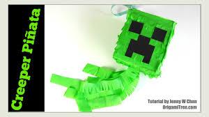 paper crafts how to make a piñata diy minecraft creeper piñata