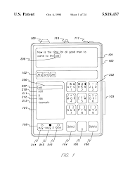 patent us5818437 reduced keyboard disambiguating computer