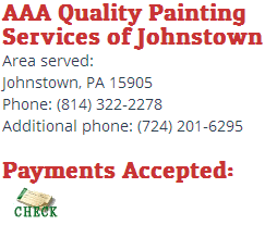 aaa quality painting services of johnstown is a renowned exterior