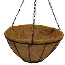 hampton bay 14 in metal hanging grower u0027s basket hgb14 b the