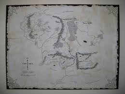 Map Middle Earth Aged Map Of Middle Earth 5 Steps With Pictures