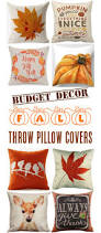 Couch Pillow Slipcovers 30 Fall Pillow Covers Frugal Autumn Decor The Frugal Girls