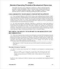 how to write an army sop template standard operating procedure