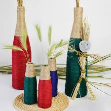 cool vases diy wine bottle vases with colored twine cucicucicoo
