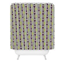 Chapel Hill Shower Curtain by Caroline Okun Mid Century Chartreuse Shower Curtain Deny Designs