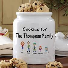 personalized cookie jars personalized family cookie jar christmas gifts