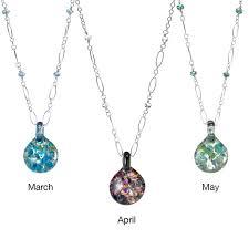 necklace with birthstones glass birthstone necklace birthstones necklaces gems stones