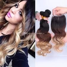 ombre hair weave african american 9a ombre hair extensions 1b 4 27 honey blonde ombre human hair