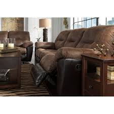 Two Tone Reclining Sofa Furniture Twotone Faux Leather Reclining Sofa By Signature