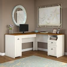 bush fairview collection l shaped desk amazon com fairview l shaped desk in antique white kitchen u0026 dining