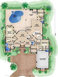 Mediterranean Floor Plans Mediterranean Style House Plan 4 Beds 4 00 Baths 6098 Sq Ft Plan