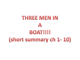 three men in a boat 1 10 chapter