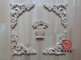 carved wood cabinet doors wood dongyang wood carving vase fashion corners applique