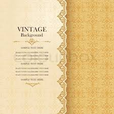Invitation Paper Vintage Background Antique Greeting Card Invitation With Lace