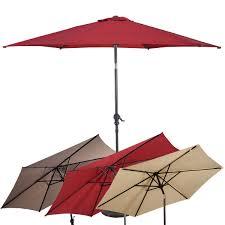 Commercial Patio Umbrella by 10 Ft 6 Ribs Patio Umbrella With Crank Outdoor Umbrellas