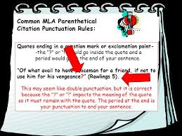 parenthetical mla citation of textual evidence ppt