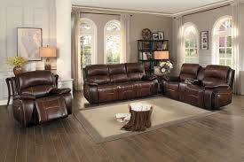 Power Reclining Sofa Set Homelegance Mahala Power Reclining Sofa Set Brown Top Grain
