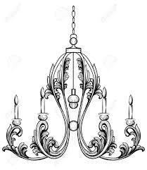 Classic Chandelier Rich Rococo Classic Chandelier Luxury Decor Accessory Design