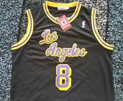 nwt kobe bryant los angeles lakers rookie throwback jersey size