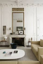 interior rounded wall mirror with unique circles frame paired