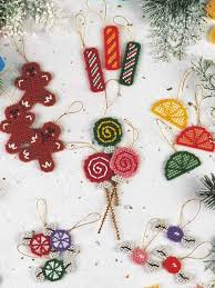 plastic canvas ornaments sugarplum ornaments