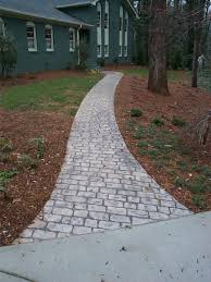 Pictures Of Stone Walkways by Concrete Sidewalks And Paths Atlanta Custom Concrete Sidewalk