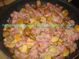 iers de cuisine une poêlée de châtaignes aux cèpes et gésiers de canard
