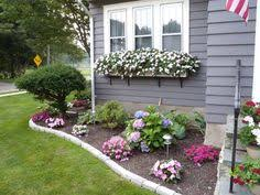 simple front flower bed design flower gardening outdoors