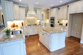 Kitchen Cabinet With Granite Top White Kitchen Cabinets With Hardwood Floors Kitchen And Decor