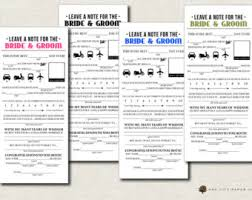 marriage advice cards for wedding wedding mad lib wedding advice card newlywed advice card