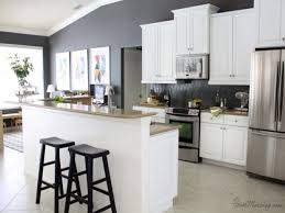 White Kitchen Cabinets With Gray Walls Kitchen White Kitchen Cabinets Gray Walls Pictures Decorations
