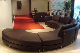Modern Round Leather Sectional Sofa A Leather Sectionals Curved - Curved contemporary sofa living room furniture